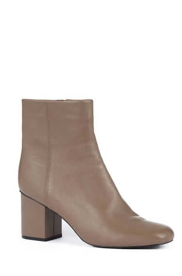 Warehouse, Square Toe Ankle Boot Mink 0