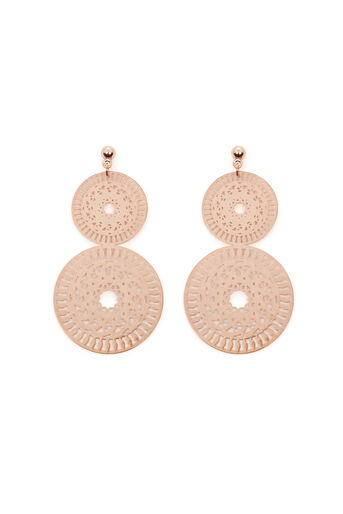 Warehouse, LASER CUT EARRINGS Rose Gold 0