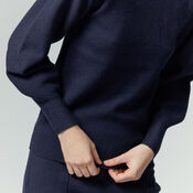 Warehouse, MILANO BLOUSON SLEEVE JUMPER Navy 4