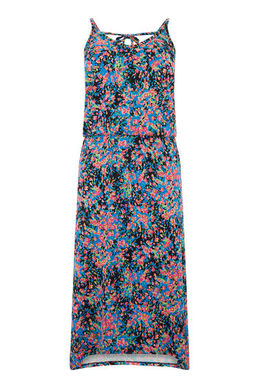 Warehouse, FLORAL HANKY HEM DRESS Multi 0