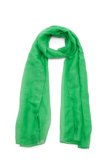 Warehouse, PLAIN LIGHTWEIGHT SCARF Bright Green 0