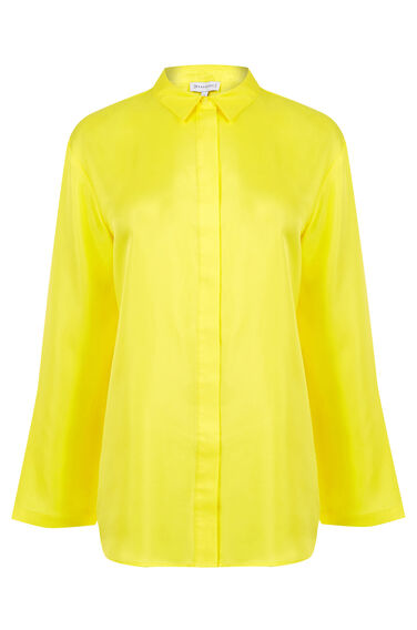 Warehouse, PLAIN SILK BLOUSE Yellow 0