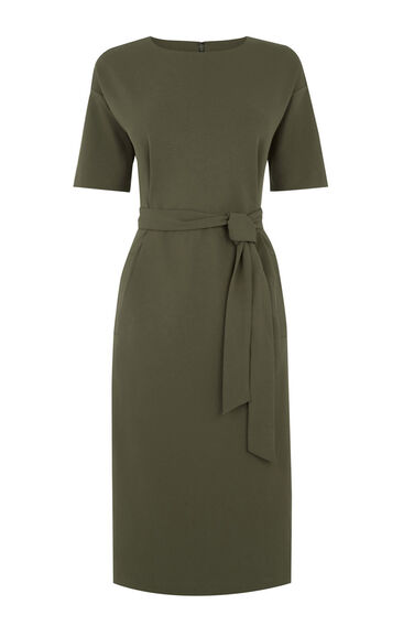 Warehouse, DROP SLEEVE POCKET DRESS Khaki 0