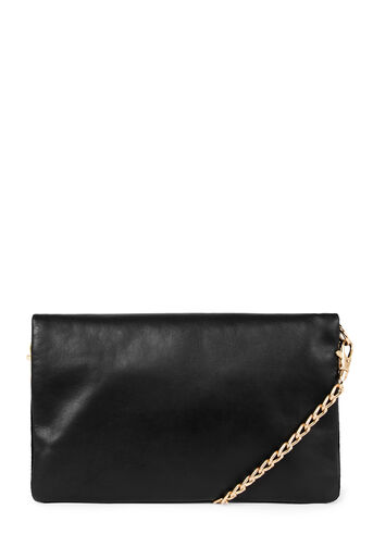 Warehouse, LEATHER CHAIN CROSSBODY Black 0