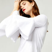Warehouse, TIERED SLEEVE TOP White 1
