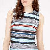 Warehouse, JACQUARD STRIPE SHIFT DRESS Multi 4