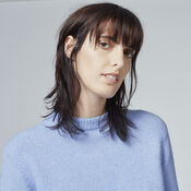 Warehouse, BOUCLE CREW JUMPER Light Blue 4
