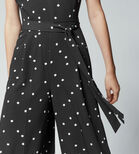 Warehouse, Dotty Jumpsuit Black 4