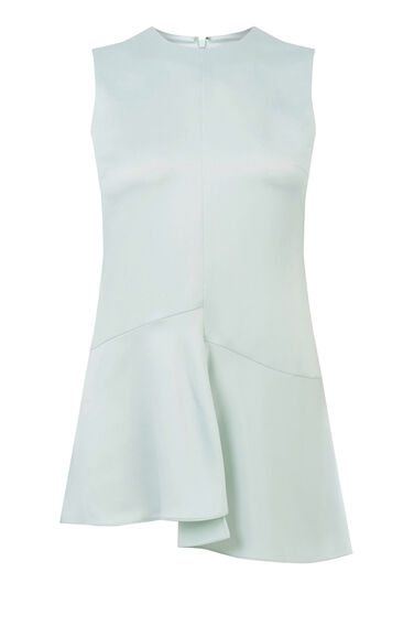 Warehouse, BIAS CUT SLEEVELESS TOP Light Grey 0