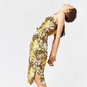 Warehouse, AMAZON PRINT DRESS Yellow 4