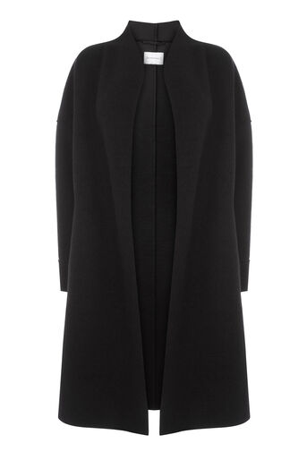 Warehouse, BONDED SWING COAT Black 0