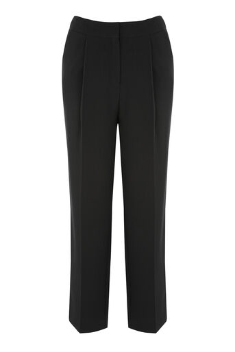 Warehouse, PLAIN PEG TROUSER Black 0