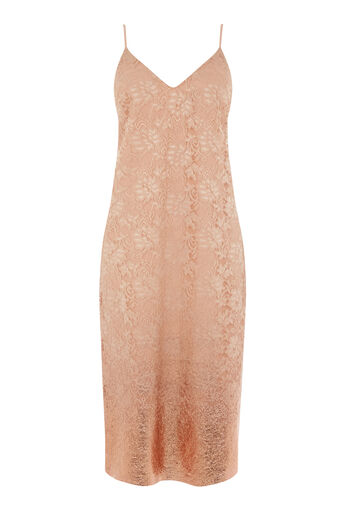 Warehouse, FOIL LACE STRAPPY DRESS Beige 0