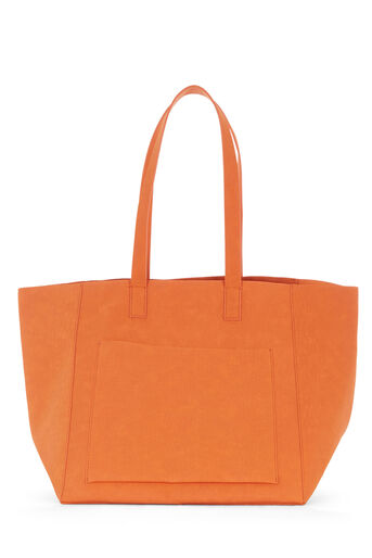 Warehouse, EMBOSSED SOFT POCKET TOTE Orange 0