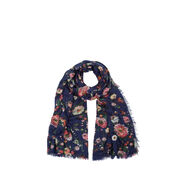 Warehouse, Printed Floral Scarf Blue Pattern 0