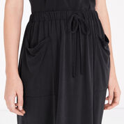 Warehouse, PREMIUM FABRIC TIE WAIST MIDI Dark Grey 4