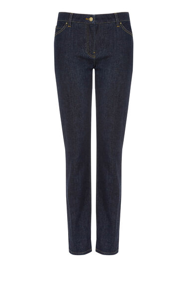 Warehouse, The Boy Cut Jean Dark Wash Denim 0