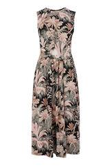 Warehouse, AMAZON PRINT CUT OUT DRESS Black Pattern 0