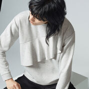Warehouse, RUFFLE SWEAT Light Grey 4