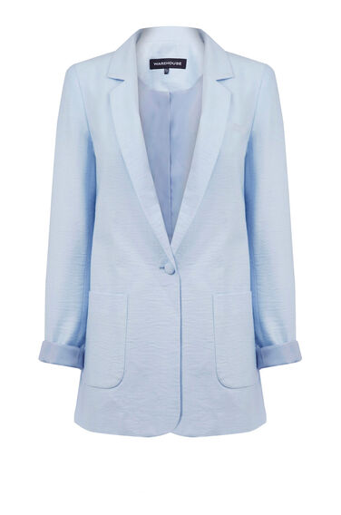 Warehouse, SOFT BOYFRIEND JACKET Light Blue 0