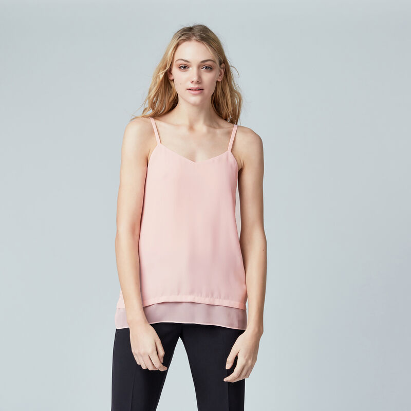 Warehouse, DOUBLE LAYER CAMI Light Pink 1