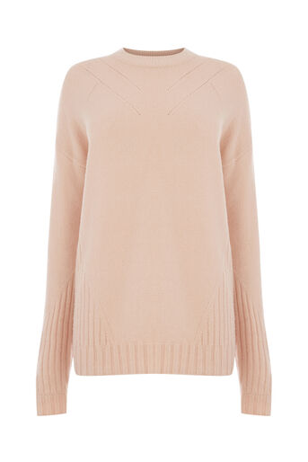 Warehouse, COSY POINTELLE DETAIL JUMPER Light Pink 0
