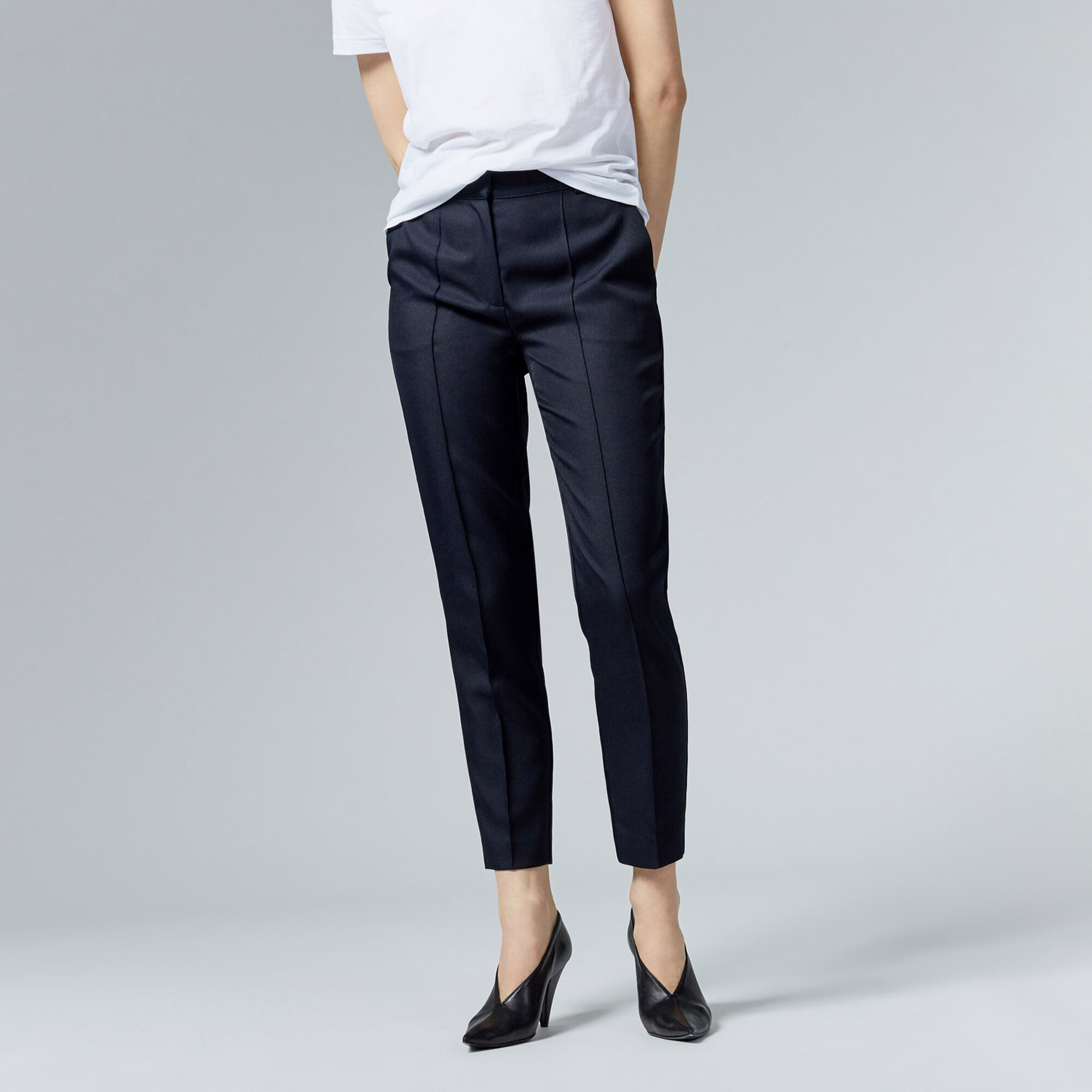 Warehouse, STITCH SEAM TROUSER Navy 1