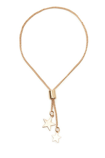Warehouse, DRAWCHAIN STAR BRACELET Gold Colour 0