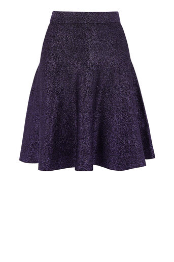 Warehouse, SPARKLE MINI SKIRT Bright Purple 0
