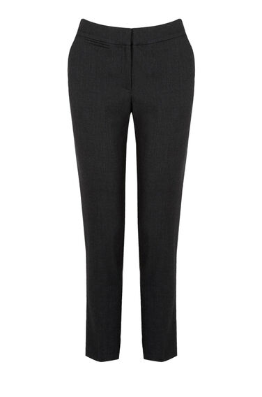Warehouse, TEXTURED TAILORED TROUSERS Black 0