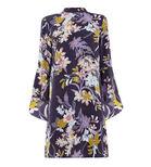 Warehouse, ORCHID FLARED CUFF DRESS Purple Pattern 0
