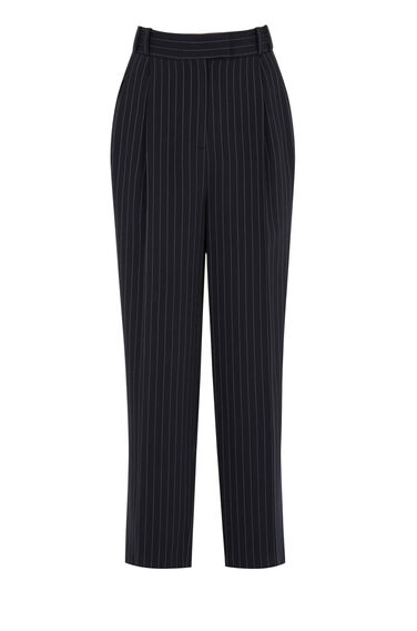 Warehouse, PINSTRIPE MENSY TROUSERS Navy 0