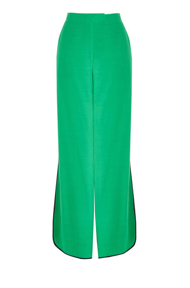 Warehouse, CONTRAST PIPED TROUSER Bright Green 0