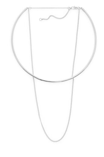 Warehouse, CHOKER AND CHAIN NECKLACE Silver Colour 0