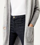Warehouse, SOFT LONG LINE CARDI Dark Grey 4