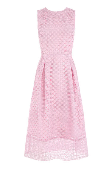 Warehouse, LINEAR DRESS Light Pink 0