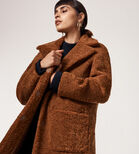 Warehouse, Teddy Faux Fur Coat Tan 4