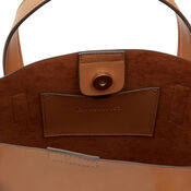 Warehouse, CURVE TOP TOTE BAG Camel 3