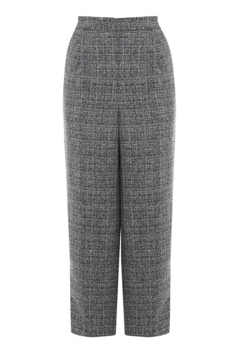 Warehouse, TEXTURED PEG TROUSER Dark Grey 0