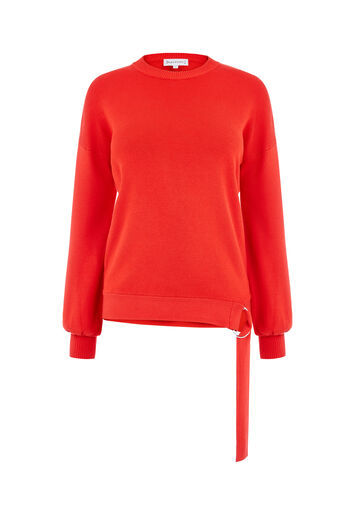 Warehouse, D RING HEM JUMPER Bright Red 0