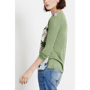 Warehouse, Feather Woven Front Jumper Khaki 3