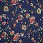 Warehouse, Printed Floral Scarf Blue Pattern 2