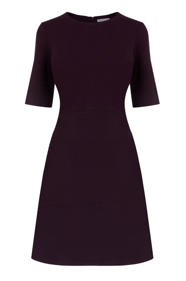 Warehouse, PONTE DRESS Dark Purple 0