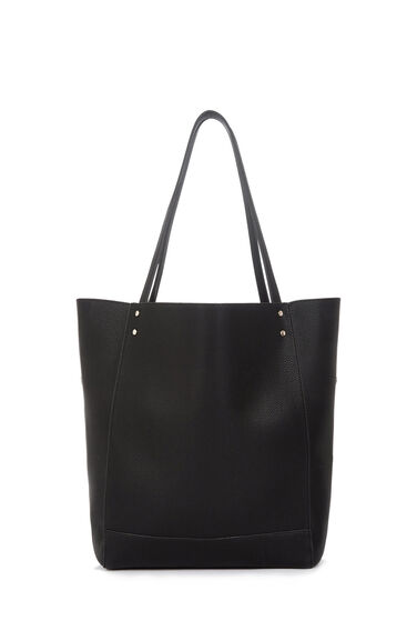 Warehouse, STUD PANELLED SHOPPER BAG Black 0