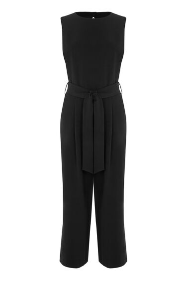 Warehouse, OPEN BACK JUMPSUIT Black 0