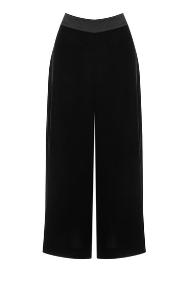 Warehouse, Velvet Culottes Black 0