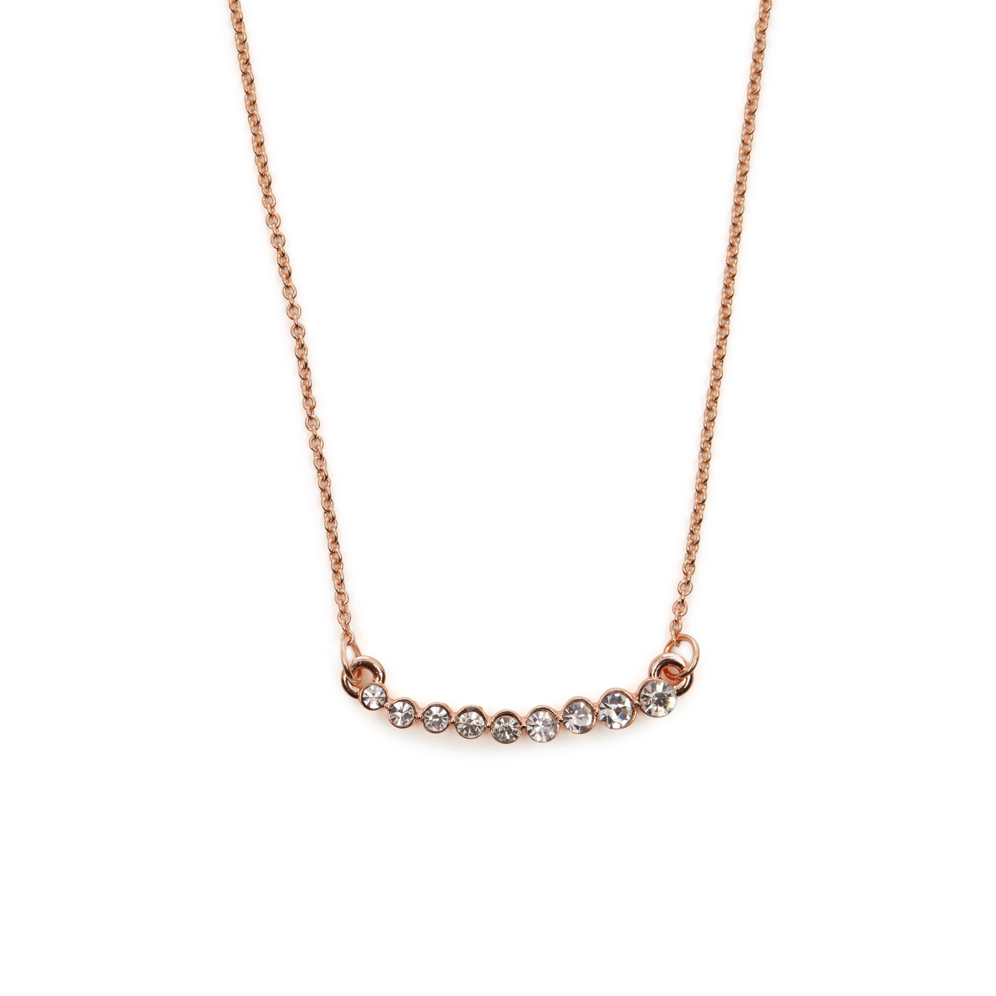 Gold Bar Necklace Delicate Metal Pendant Set With