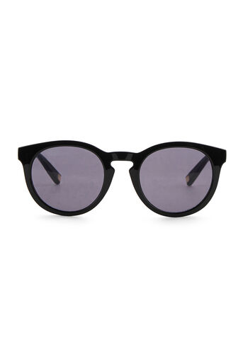 Warehouse, Rounded Frame Sunglasses Black 0
