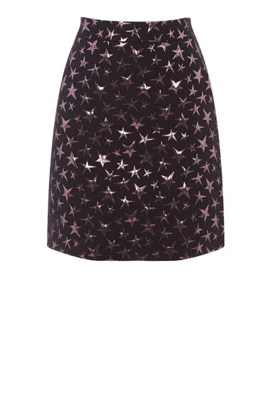 Warehouse, STAR JACQUARD PELMET SKIRT Multi 0