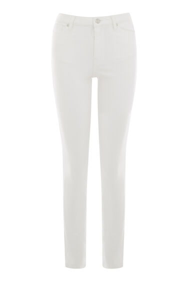 Warehouse, Powerhold Skinny Cut Jeans White 0